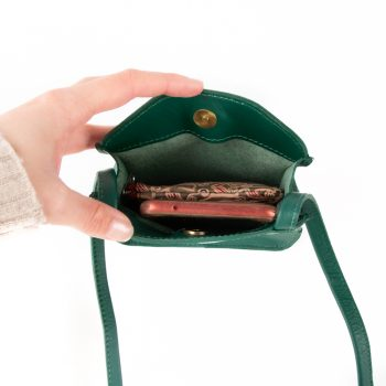 Sea green leather microbag | Gallery 2 | TradeAid
