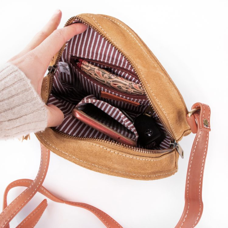 Tan and coral canteen bag | Gallery 2 | TradeAid