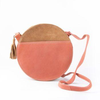 Tan and coral canteen bag | TradeAid
