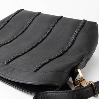Black leather shoulder bag | Gallery 2 | TradeAid