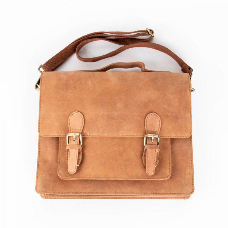 Tan hunter satchel | Gallery 1 | TradeAid