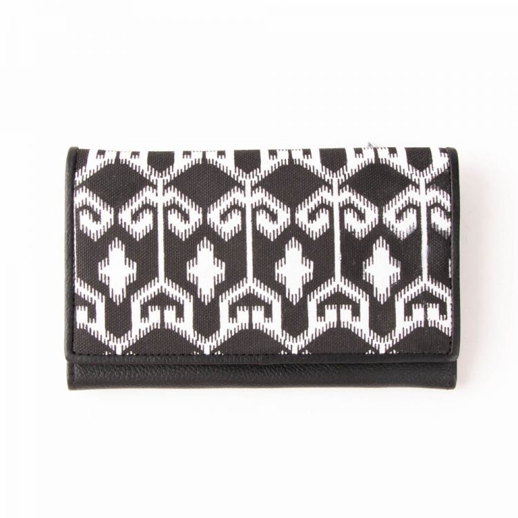 Ikat leather wallet | TradeAid