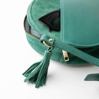 Green suede canteen bag | Gallery 2 | TradeAid