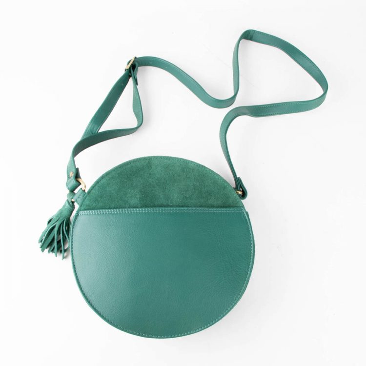 Green suede canteen bag | TradeAid