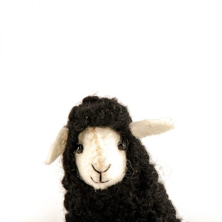 Black felt sheep hanging | Gallery 1 | TradeAid