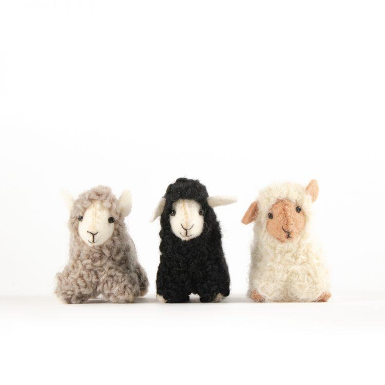 Black felt sheep hanging | Gallery 2 | TradeAid