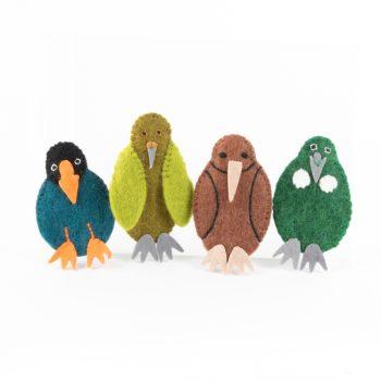 Set of 4 nz native birds | TradeAid