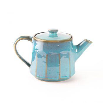 Turquoise stoneware teapot   TradeAid