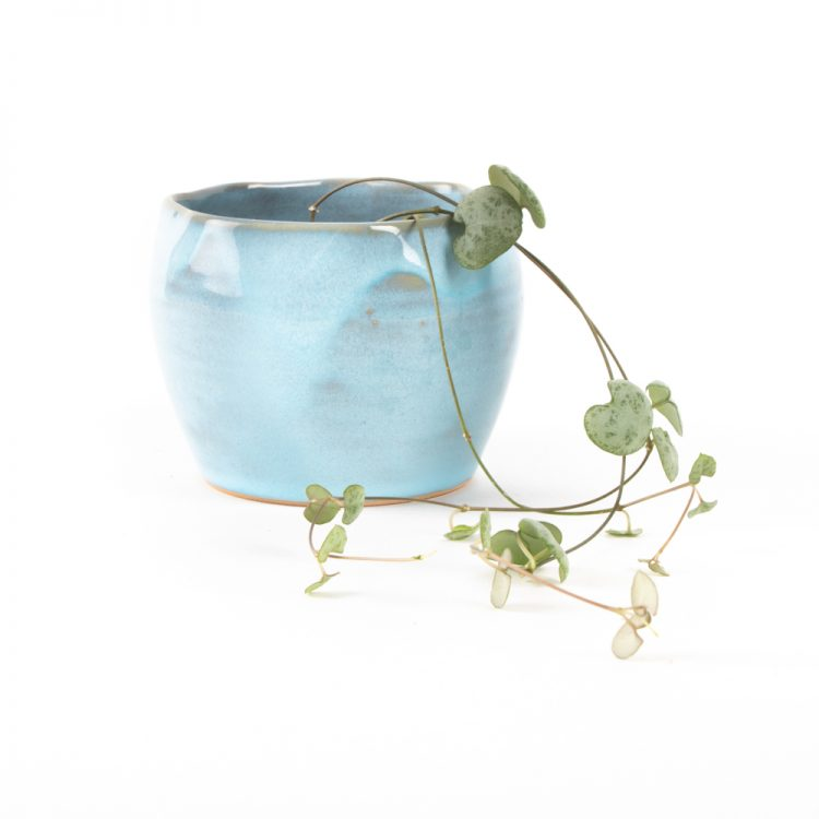 Blue stoneware planter | TradeAid
