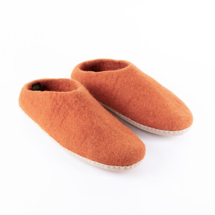 Pumpkin felt slipper (37) | TradeAid