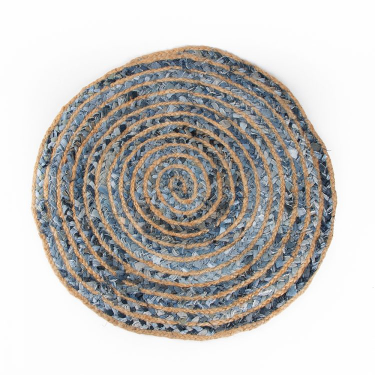 Small round denim rug | Gallery 1 | TradeAid