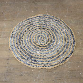 Large round denim rug | TradeAid