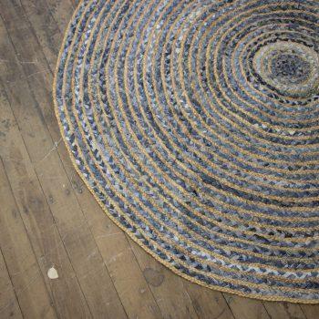 Large round denim rug | Gallery 1 | TradeAid