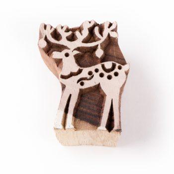 Reindeer printing block | TradeAid