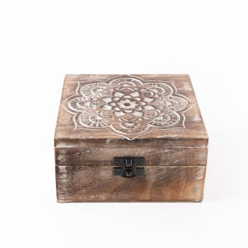 Mandala mango wood box | Gallery 1 | TradeAid