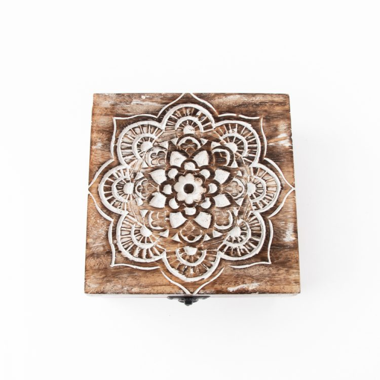 Mandala mango wood box | TradeAid