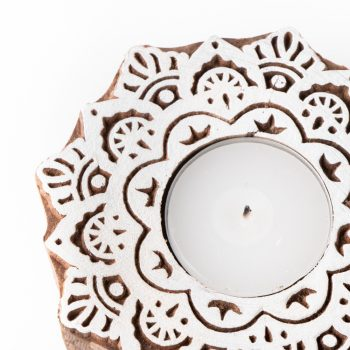 White wood tealight holder | Gallery 2 | TradeAid