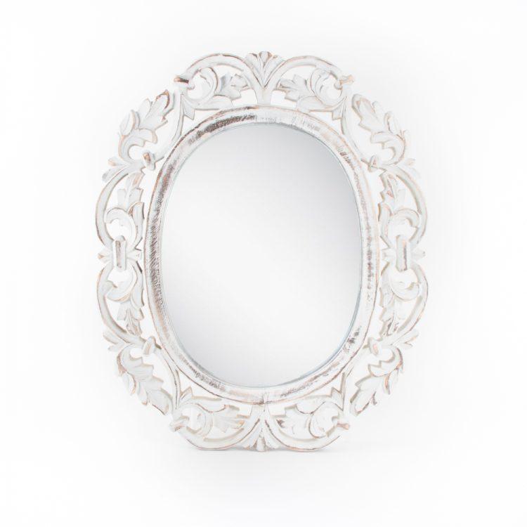 Floral mango wood mirror | TradeAid