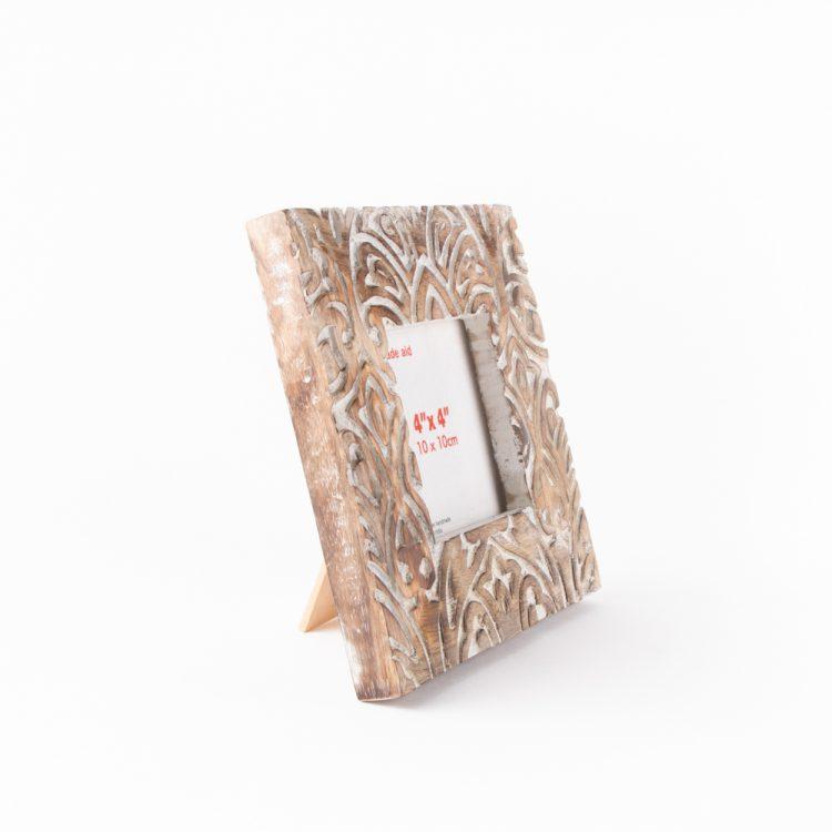 Square mango wood photo frame | Gallery 1 | TradeAid
