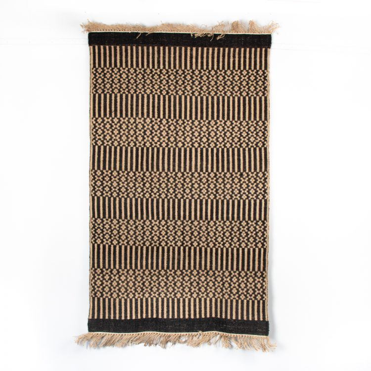 Floral and striped jute rug | Gallery 1 | TradeAid