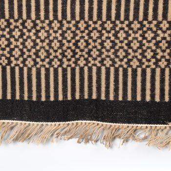 Floral and striped jute rug | TradeAid