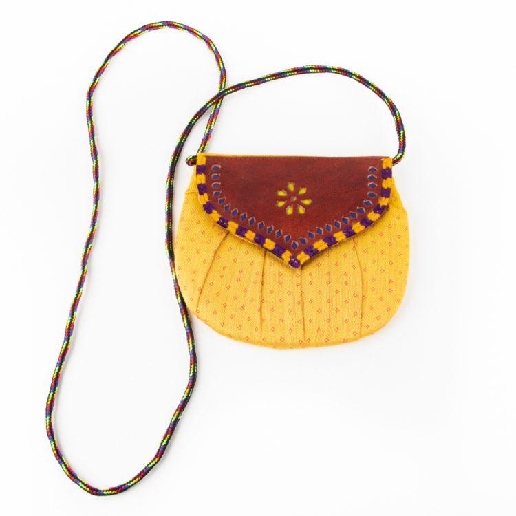 Mushru and leather micro bag | TradeAid