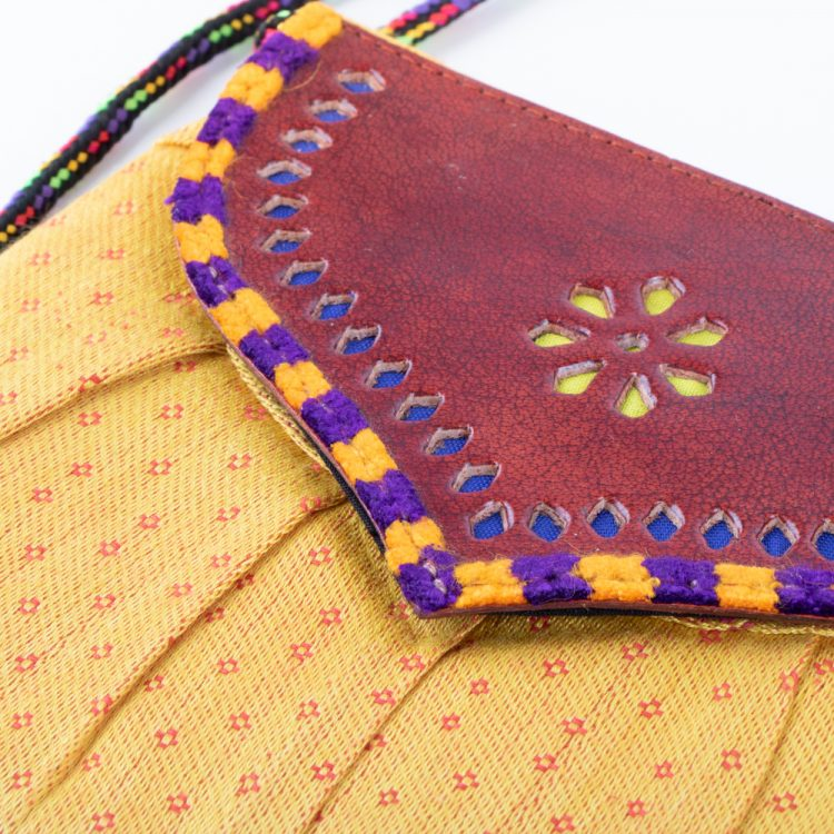 Mushru and leather micro bag | Gallery 1 | TradeAid