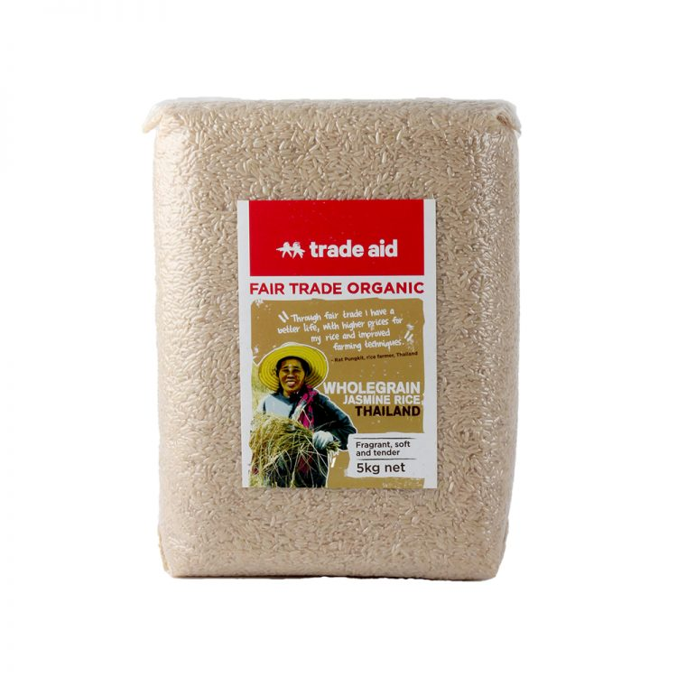 Wholegrain jasmine rice – 5kg | TradeAid