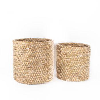 Hogla and cotton basket (set of two) | TradeAid