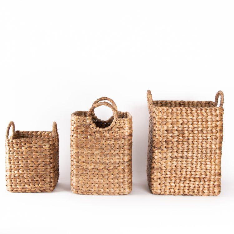 Tall water hyacinth basket (set of three) | TradeAid