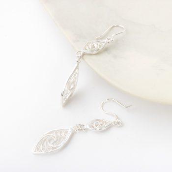 Filigree drop earrings   Gallery 2   TradeAid