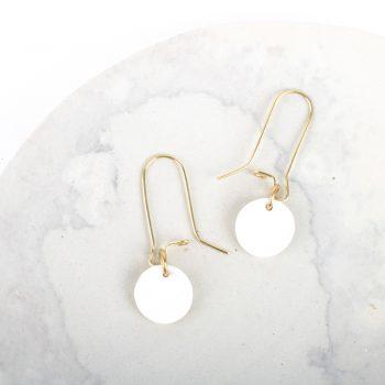 White disc earrings | TradeAid