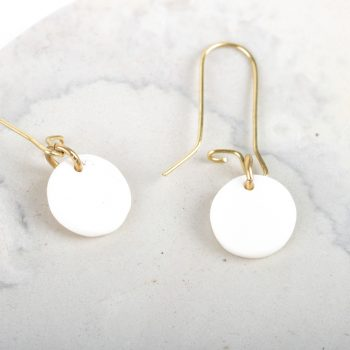White disc earrings   Gallery 1   TradeAid