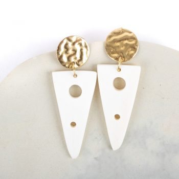 White triangle earrings | TradeAid
