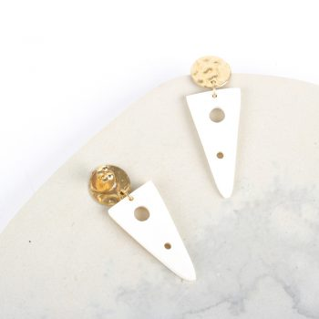 White triangle earrings | Gallery 1 | TradeAid
