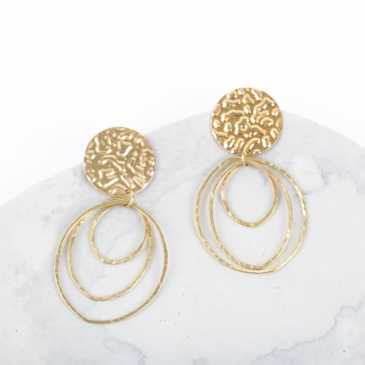 Concentric hoops earrings | TradeAid
