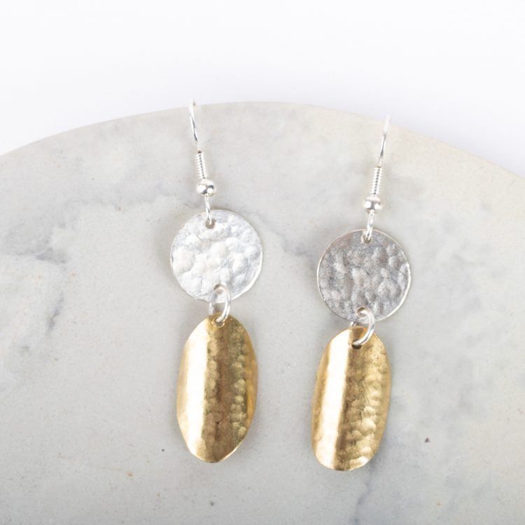 Double disc earrings | TradeAid
