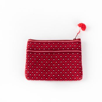 Red woven coin purse | TradeAid