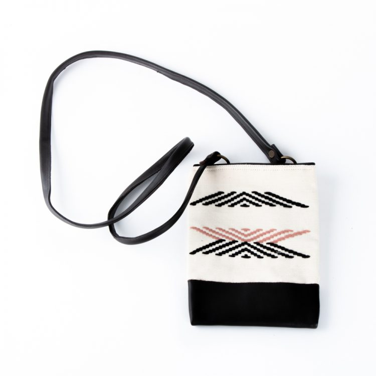 Fabric & leather sling bag | TradeAid