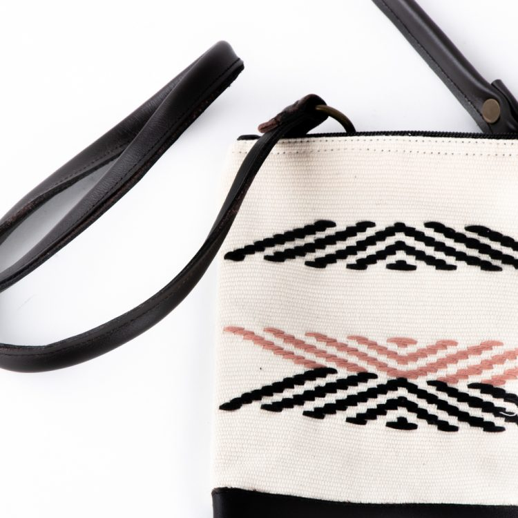 Fabric & leather sling bag | Gallery 1 | TradeAid