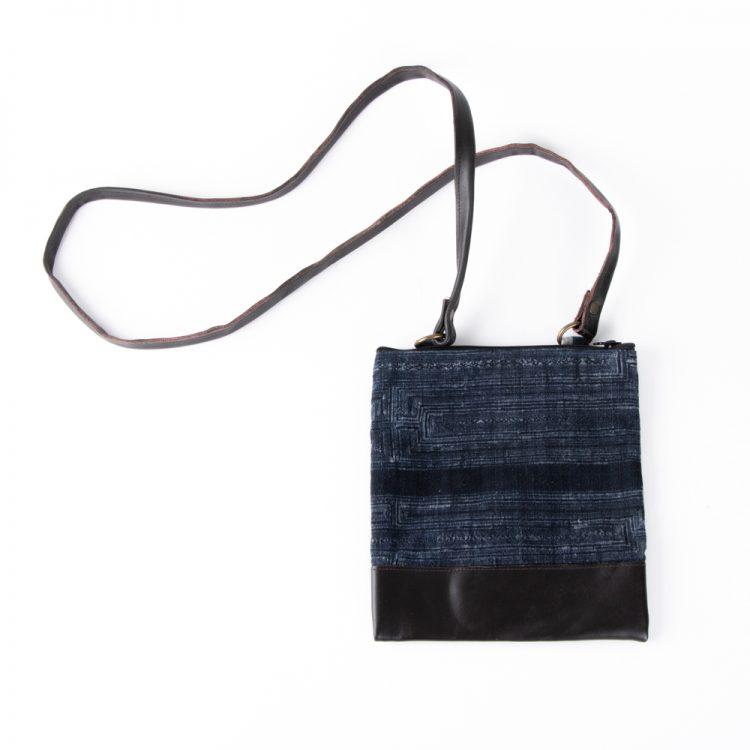 Fabric & leather satchel   TradeAid