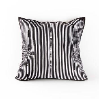 Black and white lisu cushion | TradeAid