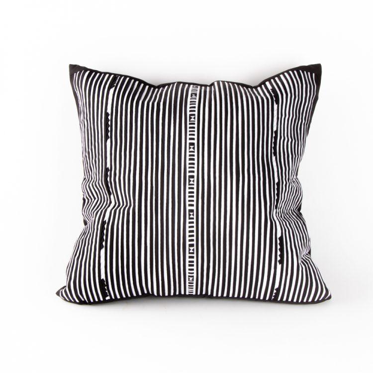 Black and white lisu cushion | TradeAid