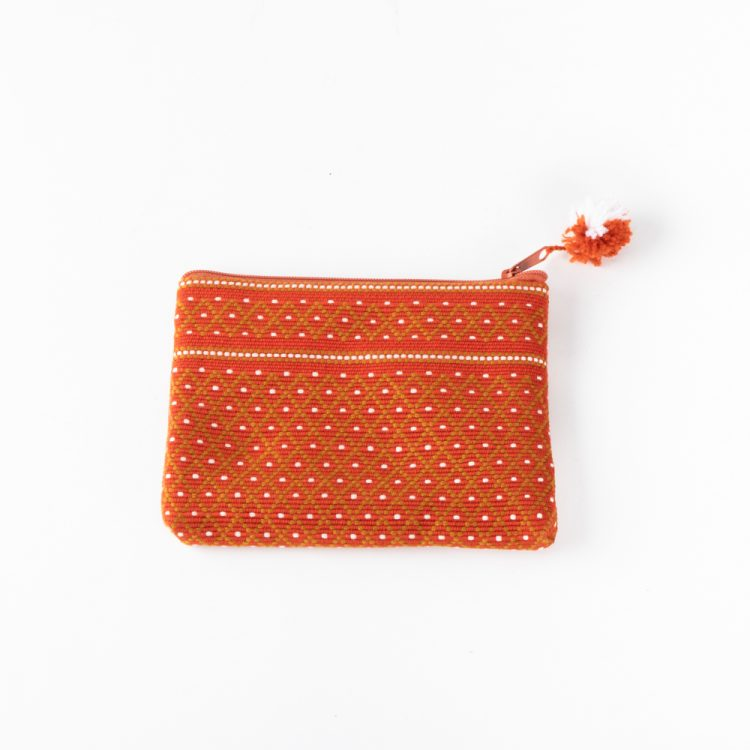 Burnt orange woven coin purse | TradeAid