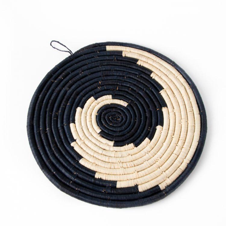Black swirl placemat   TradeAid