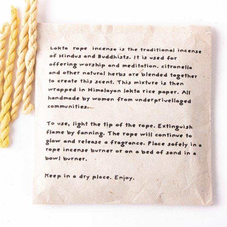 Lokta rope incense – citronella | Gallery 2 | TradeAid
