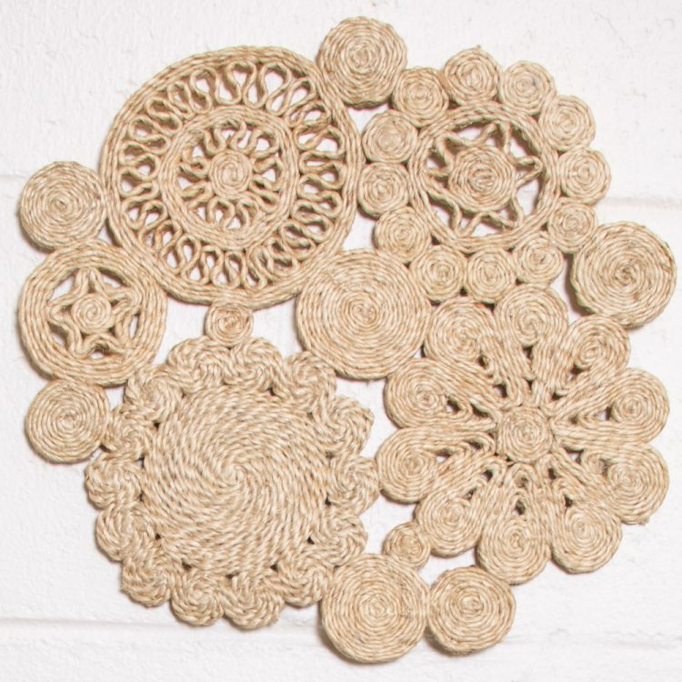 Ornate jute placemat   TradeAid
