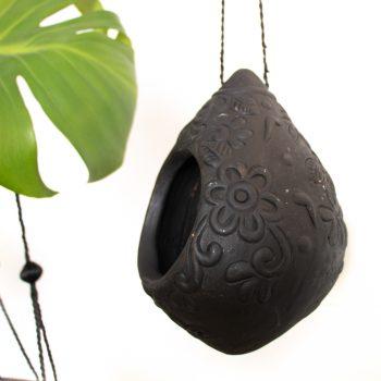 Black terracotta bird house   Gallery 1   TradeAid