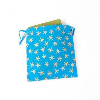 Large star print gift bag | TradeAid