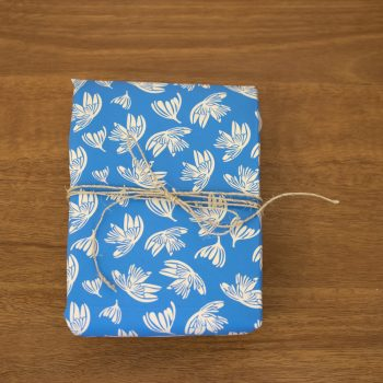 Blue falling flower paper | TradeAid
